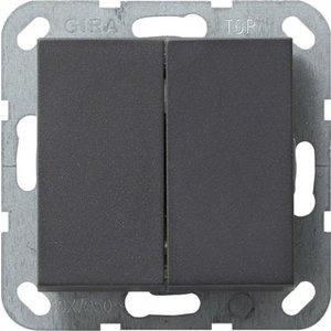 Gira Dubbele Serieschakelaar Syst 55 Antraciet - 012528