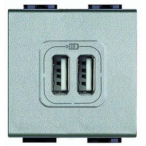 Bticino Livinglight USB-lader type A+C-3A- 2 mod.Tech - NT4287C2