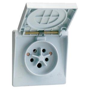 Vynckier Waterdichte contactdoos 3P+N+A 32A IP44 Grijs
