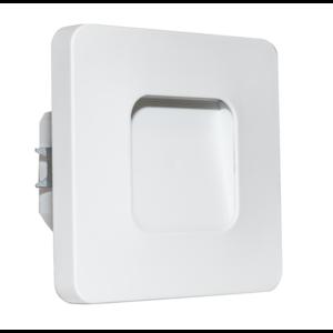 Oriëntatieverlicht. LED ABS vierkant 3100K 230V Wit