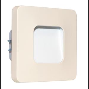Oriëntatieverlicht. LED ABS vierkant 3100K 230V Créme