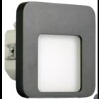 Oriëntatieverlichting  WarmWit  Staal Vierkant Antraciet