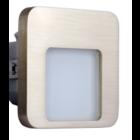 Oriëntatieverlichting  WarmWit  Staal Vierkant Zilver