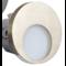 Oriëntatieverlicht. LED Rond 3100K 230V Staal Zilver