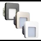 Oriëntatieverlichting  WarmWit  Staal Vierkant Wit