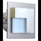 Oriëntatieverlichting  WarmWit  Staal Asymmetrisch  Zilver