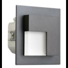 Oriëntatieverlichting  WarmWit  Staal Asymmetrisch  Antraciet