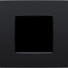 Niko Enkele afdekplaat mat zwart 130-76200