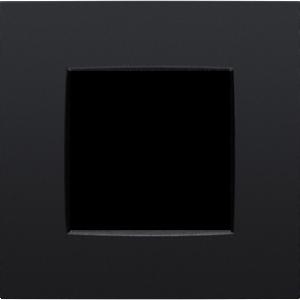 Niko Enkele afdekplaat matt Black130-76100