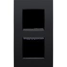 Niko Tweevoudig verticale afdekplaat mat zwart 130-76200