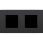 Niko Tweevoudig horizontale afdekplaat Intense matt Black 130-76800