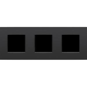 Niko Drievoudige horizontale afdekplaat Intense matt Black 130-76700