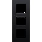 Niko Drievoudige verticale afdekplaat Intense matt Black 130-76300