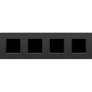 Niko Viervoudige horizontale afdekplaat Intense matt Black 130-76400