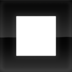 Niko Enkele afdekplaat liquid black 242-76100