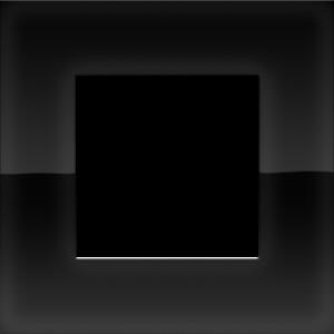 Niko Enkele afdekplaat Pure liquid black 242-76100