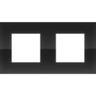 Niko Tweevoudig horizontale afdekplaat liquid black 242-76800