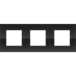 Niko Drievoudige horizontale afdekplaat Pure liquid black 242-76700