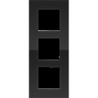 Niko Drievoudige verticale afdekplaat liquid black 242-76300