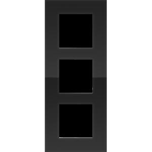 Niko Drievoudige verticale afdekplaat Pure liquid black 242-76300