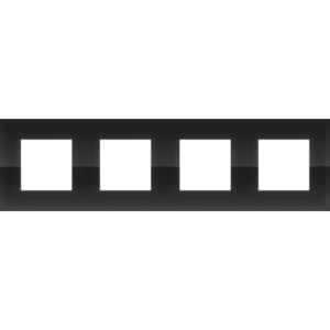 Niko Viervoudige horizontale afdekplaat Pure liquid black 242-76400