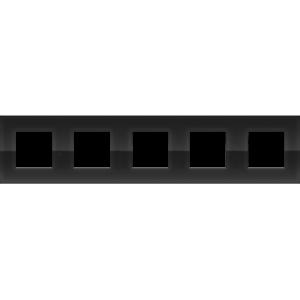Niko Vijfvoudige horizontale afdekplaat Pure liquid black 242-76005