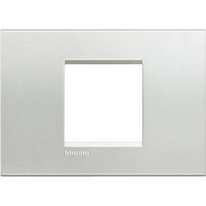 Bticino LivingLight-Afdekplaat large 2 mod Zilver - LNA4819AG