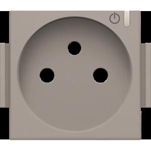 Niko Afwerking voor geconnecteerd  stopcontact Bronze 123-66630