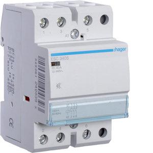 Hager Contactor geruisloos - 3x40A - 230V/220VDC - 3NO - ESC340S