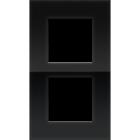 Niko Tweevoudig verticale afdekplaat liquid black 242-76200