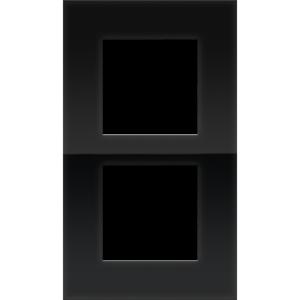 Niko Tweevoudig verticale afdekplaat Pure liquid black 242-76200