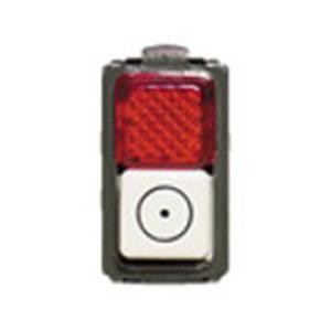 Bticino Drukknop Magic verlichtbare verklikker 1 contact NO  1 mod - 5057