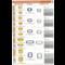 Bticino Afdekplaat 4 mod LivingLight Zilver  LNA4804AG