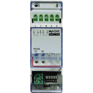 Bticino Actuator (modulair)  met 2 onafhankelijke relais - 2 modules DIN 6A