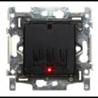 QBUS Schakelaar 1/2-toets Niko RGB  - SWC0102/NNB