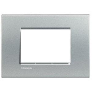 Bticino LivingLight -3 mod Italiaans - rechthoekige afdekplaat  - tech -  LNA4803TE
