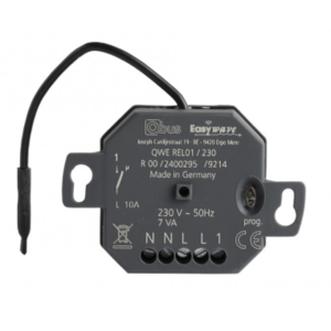QBUS Draadloze Easywave 10A relais 230V voor muurinbouw - QWE-REL01/230