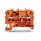 Wago rijgklem 2 verbindingen, 0.25 - 4mm, oranje