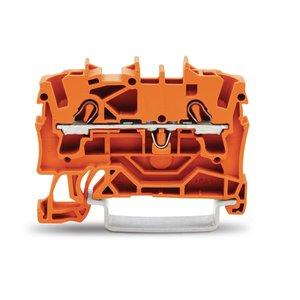 Wago rijgklem TOPJOB 2 verbindingen, 0.25 - 4mm, oranje