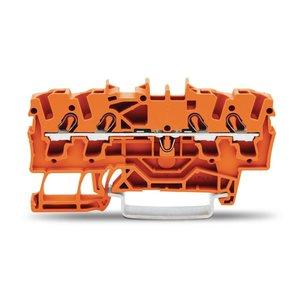 Wago rijgklem TOPJOB 4 verbindingen, 0.25 - 4mm, oranje