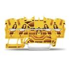 Wago rijgklem 4 verbindingen, 0.25 - 4mm, geel