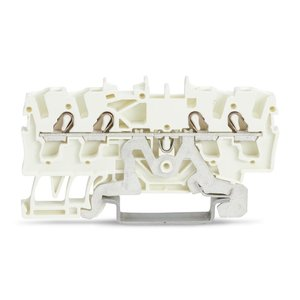 Wago Aardingsrijgklem TOPJOB 4 verbindingen, 0.25 - 4mm, wit