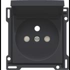 Niko afwerkingsset Zwart klapdeksel161-66603 - 28,5mm