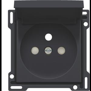 Niko afwerkingsset stopcontact met klapdeksel inbouwdiepte 28,5mm Niko 161-66603