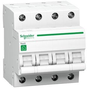 Schneider Automaat 4P 10A C 3kA - R9F64410