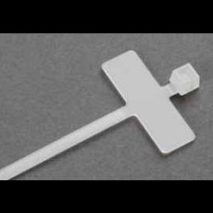 Kabelstrip met Markeerplaat 100st 8x25mm