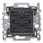 Niko 4-voudige drukknop Wit LED - 170-40170