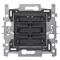 Niko Sokkel 4-voudige drukknop 24V N.O.4- Wit LED - 170-40170