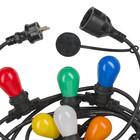 Baily Light String , Prikkabel,10xE27 5m zwart IP44