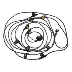 Baily Kabelverlichting, Prikkabel,10xE27 5m zwart IP44
